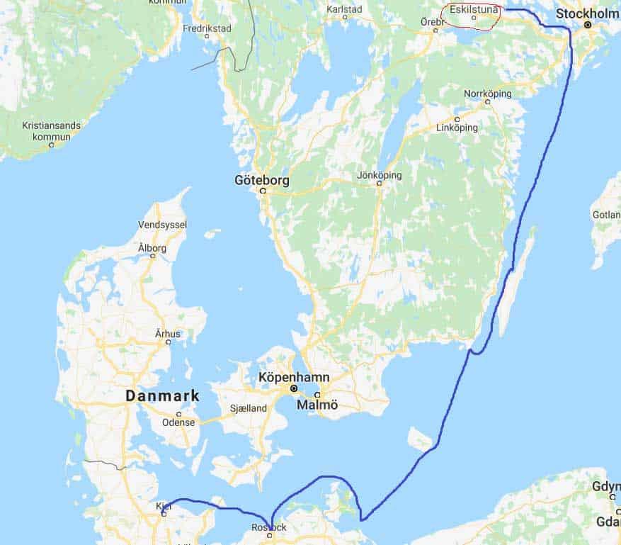 karta östersjön