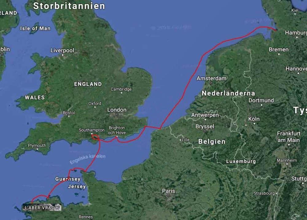 karta engelska kanalen