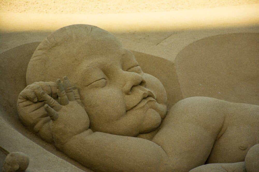 konstverk i sand