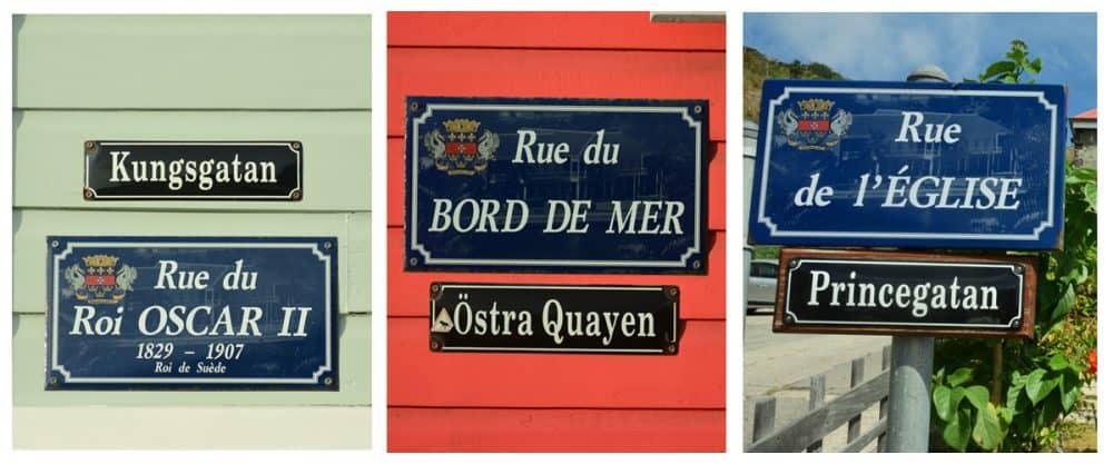 svenska gatuskyltar Gustavia